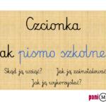 Czcionka jak pismo szkolne - pobierz, zainstaluj i korzystaj :)