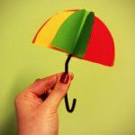 Trójwymiarowe parasole - jesienne inspiracje plastyczne