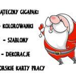 Boże Narodzenie - obrazki, ćwiczenia, kolorowanki, szablony