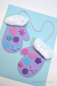 zimowe prace plastyczne - rękawice