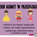 Dzień Kobiet w przedszkolu - medale, dyplomy, inspiracje