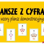Plansze z cyframi - trzy wzory!