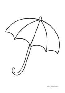 parasolka kolorowanka