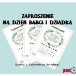 Zaproszenie na Dzień Babci i Dziadka - kartka z kalendarza