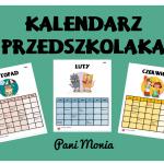 Kalendarz - dni specjalne w przedszkolu 2020/2021
