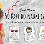 Karty do nauki czytania - dla przedszkolaka i ucznia