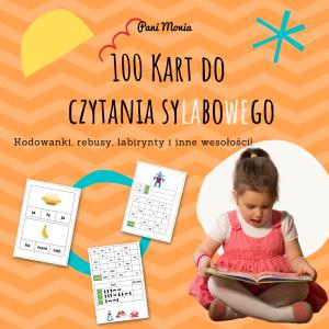 100 kart do czytania sylabowego